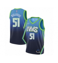 Men's Dallas Mavericks #51 Boban Marjanovic Swingman Blue Basketball Jersey - 2019 20 City Edition