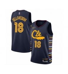 Men's Cleveland Cavaliers #18 Matthew Dellavedova Swingman Navy Basketball Jersey - 2019 20 City Edition