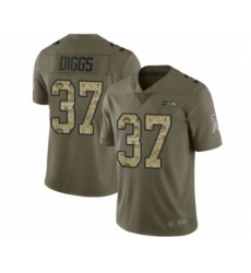Men's Seattle Seahawks #37 Quandre Diggs Limited Olive Camo 2017 Salute to Service Football Jersey