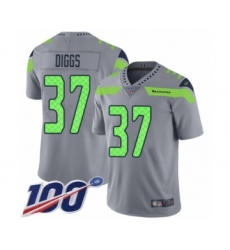 Men's Seattle Seahawks #37 Quandre Diggs Limited Silver Inverted Legend 100th Season Football Jersey