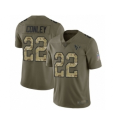Men's Houston Texans #22 Gareon Conley Limited Olive Camo 2017 Salute to Service Football Jersey