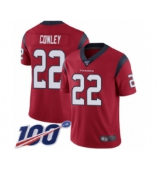 Men's Houston Texans #22 Gareon Conley Red Alternate Vapor Untouchable Limited Player 100th Season Football Jersey