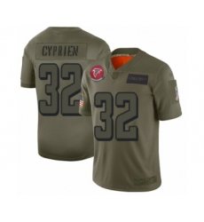 Men's Atlanta Falcons #32 Johnathan Cyprien Limited Olive 2019 Salute to Service Football Jersey