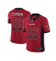 Men's Atlanta Falcons #32 Johnathan Cyprien Limited Red Rush Drift Fashion Football Jersey