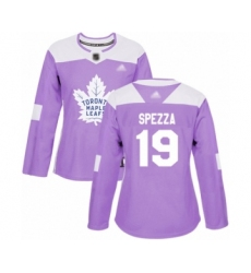 Women's Toronto Maple Leafs #19 Jason Spezza Authentic Purple Fights Cancer Practice Hockey Jersey
