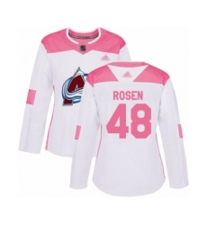 Women's Colorado Avalanche #48 Calle Rosen Authentic White Pink Fashion Hockey Jersey