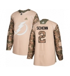 Men's Tampa Bay Lightning #2 Luke Schenn Authentic Camo Veterans Day Practice Hockey Jersey