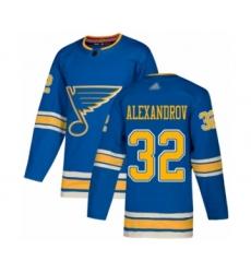 Youth St. Louis Blues #32 Nikita Alexandrov Premier Navy Blue Alternate Hockey Jersey