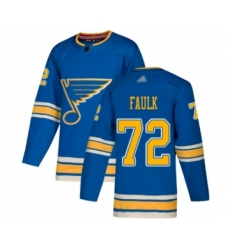 Men's St. Louis Blues #72 Justin Faulk Authentic Navy Blue Alternate Hockey Jersey