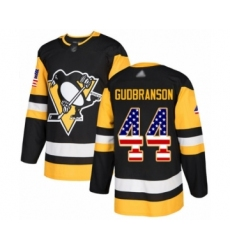 Men's Pittsburgh Penguins #44 Erik Gudbranson Authentic Black USA Flag Fashion Hockey Jersey