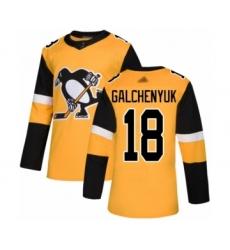Men's Pittsburgh Penguins #18 Alex Galchenyuk Authentic Gold Alternate Hockey Jersey