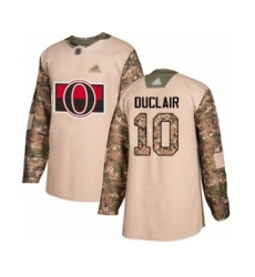 Youth Ottawa Senators #10 Anthony Duclair Authentic Camo Veterans Day Practice Hockey Jersey