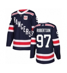 Men's New York Rangers #97 Matthew Robertson Authentic Navy Blue 2018 Winter Classic Hockey Jersey