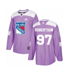 Men's New York Rangers #97 Matthew Robertson Authentic Purple Fights Cancer Practice Hockey Jersey