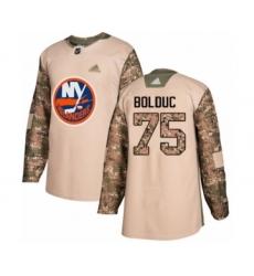 Men's New York Islanders #75 Samuel Bolduc Authentic Camo Veterans Day Practice Hockey Jersey