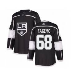 Men's Los Angeles Kings #68 Samuel Fagemo Authentic Black Home Hockey Jersey