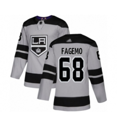 Men's Los Angeles Kings #68 Samuel Fagemo Authentic Gray Alternate Hockey Jersey