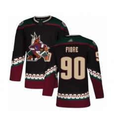 Men's Arizona Coyotes #90 Giovanni Fiore Authentic Black Alternate Hockey Jersey