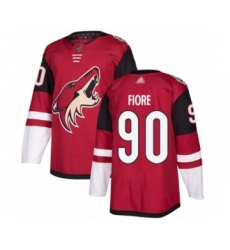 Men's Arizona Coyotes #90 Giovanni Fiore Authentic Burgundy Red Home Hockey Jersey