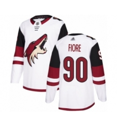 Men's Arizona Coyotes #90 Giovanni Fiore Authentic White Away Hockey Jersey