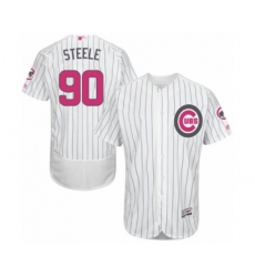 Men's Chicago Cubs #90 Justin Steele Authentic White 2016 Mother's Day Fashion Flex Base Baseball Player Jersey