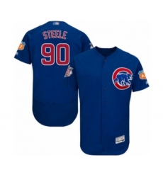 Men's Chicago Cubs #90 Justin Steele Grey Road Flex Base Authentic Collection Baseball Player Jersey (2)