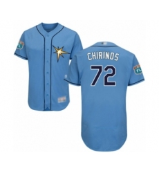 Men's Tampa Bay Rays #72 Yonny Chirinos Light Blue Flexbase Authentic Collection Baseball Player Jersey