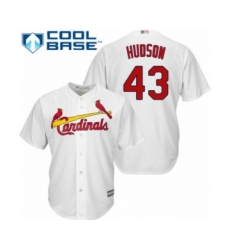 Youth St. Louis Cardinals #43 Dakota Hudson Authentic White Home Cool Base Baseball Player Jersey