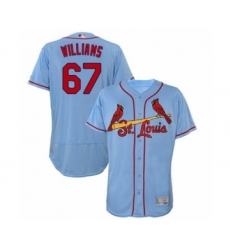 Men's St. Louis Cardinals #67 Justin Williams Light Blue Alternate Flex Base Authentic Collection Baseball Player Jersey
