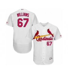 Men's St. Louis Cardinals #67 Justin Williams White Home Flex Base Authentic Collection Baseball Player Jersey