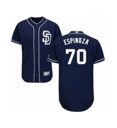 Men's San Diego Padres #70 Anderson Espinoza Navy Blue Alternate Flex Base Authentic Collection Baseball Player Jersey