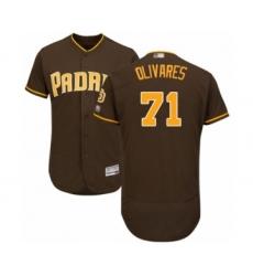Men's San Diego Padres #71 Edward Olivares Brown Alternate Flex Base Authentic Collection Baseball Player Jersey