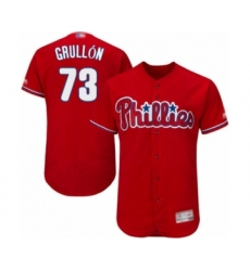 Men's Philadelphia Phillies #73 Deivy Grullon Red Alternate Flex Base Authentic Collection Baseball Player Jersey