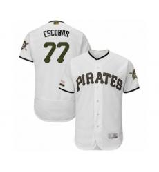 Men's Pittsburgh Pirates #77 Luis Escobar White Alternate Authentic Collection Flex Base Baseball Player Jersey