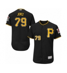Men's Pittsburgh Pirates #79 Williams Jerez Black Alternate Flex Base Authentic Collection Baseball Player Jersey