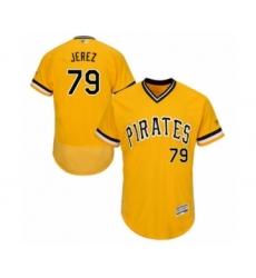 Men's Pittsburgh Pirates #79 Williams Jerez Gold Alternate Flex Base Authentic Collection Baseball Player Jersey