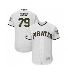 Men's Pittsburgh Pirates #79 Williams Jerez White Alternate Authentic Collection Flex Base Baseball Player Jersey