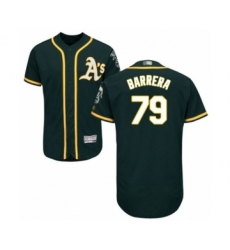 Men's Oakland Athletics #79 Luis Barrera Green Alternate Flex Base Authentic Collection Baseball Player Jersey