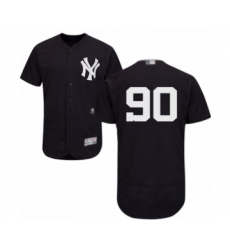 Men's New York Yankees #90 Thairo Estrada Navy Blue Alternate Flex Base Authentic Collection Baseball Player Jersey