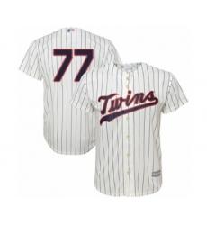 Men's Minnesota Twins #77 Fernando Romero Replica Cream Alternate Cool Base Baseball Player Jersey