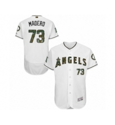 Men's Los Angeles Angels of Anaheim #73 Luis Madero Authentic White 2016 Memorial Day Fashion Flex Base Baseball Player Jersey