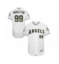 Men's Los Angeles Angels of Anaheim #99 Keynan Middleton Authentic White 2016 Memorial Day Fashion Flex Base Baseball Player Jersey