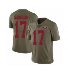 Men's San Francisco 49ers #17 Emmanuel Sanders Limited Olive 2017 Salute to Service Football Jersey