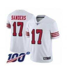 Men's San Francisco 49ers #17 Emmanuel Sanders Limited White Rush Vapor Untouchable 100th Season Football Jersey