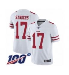 Men's San Francisco 49ers #17 Emmanuel Sanders White Vapor Untouchable Limited Player 100th Season Football Jersey