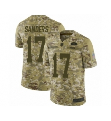 Youth San Francisco 49ers #17 Emmanuel Sanders Limited Camo 2018 Salute to Service Football Jersey