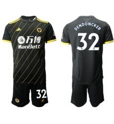 Wolves #32 Dendoncker Away Soccer Club Jersey