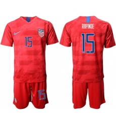 USA #15 Rapinoe Away Soccer Country Jersey
