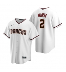 Men's Nike Arizona Diamondbacks #2 Starling Marte White Home Stitched Baseball Jersey