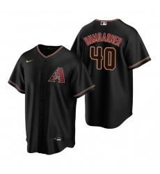 Men's Nike Arizona Diamondbacks #40 Madison Bumgarner Black Alternate Stitched Baseball Jersey